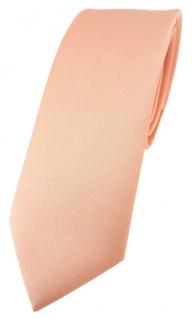 schmale TigerTie Designer Krawatte in lachs einfarbig Uni - Tie Schlips