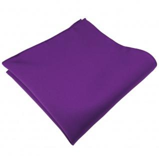 TigerTie Satin Einstecktuch in lila violett Uni - Tuch 100% Polyester