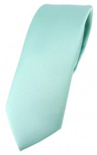 schmale TigerTie Designer Krawatte in mint grün einfarbig Uni - Tie Schlips