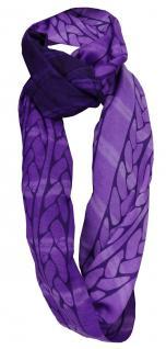 TigerTie Loop Schal in lila violett gemustert - Gr. 180 x 100 cm