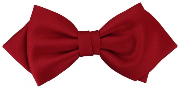 vorgebundene TigerTie Spitzfliege Schleife in rot Einfarbig Uni + Geschenkbox