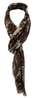 TigerTie Designer Schal in dunkelbraun grau gemustert