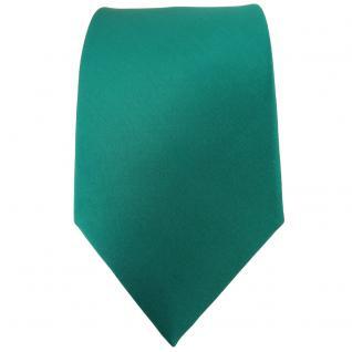 TigerTie Satin Seidenkrawatte in grün einfarbig Uni - Krawatte 100% Seide - Vorschau 2