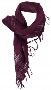 Halstuch lila silber mit Fransen - Glitzerfäden eingearbeitet - Gr. 90 x 90 cm