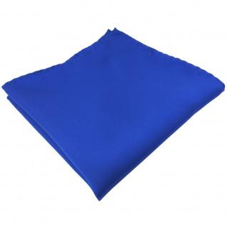 schönes Einstecktuch in Satin blau uni - Tuch 100% Polyester