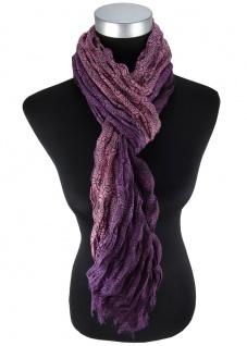 edler Schal in violett altrosa schwarz gemustert - Schalgröße 180 x 100 cm