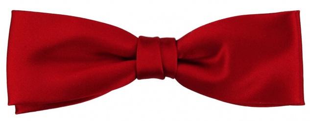vorgebundene schmale TigerTie Seidenfliege rot verkehrsrot Uni einfarbig + Box