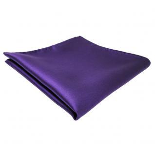 TigerTie Einstecktuch lila violett einfarbig - Tuch Polyester