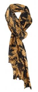 Desigern Schal in braun schwarz gemustert - Schalgröße 180 cm x 100 cm