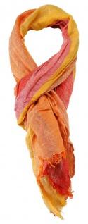 TigerTie Schal in orange lachs rot rose gestreift - Gr. 180 x 50 cm