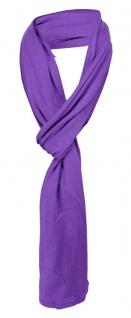 Schal in violett uni einfarbig - Schalgröße 180 x 40 cm