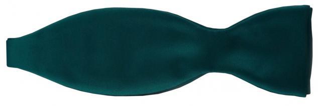 TigerTie Satin Selbstbinder Fliege in grün petrol Uni einfarbig + Geschenkbox