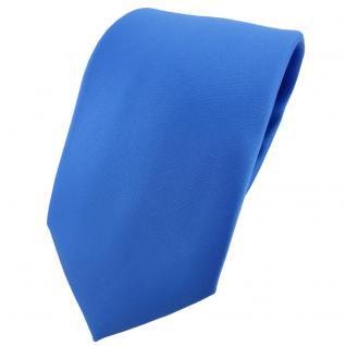 TigerTie Designer Krawatte in blau einfarbig Uni