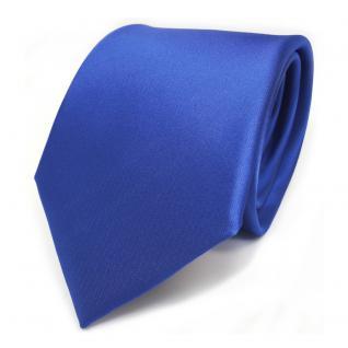 TigerTie Designer Krawatte blau signalblau Uni Satin Glanz - Tie Schlips Binder