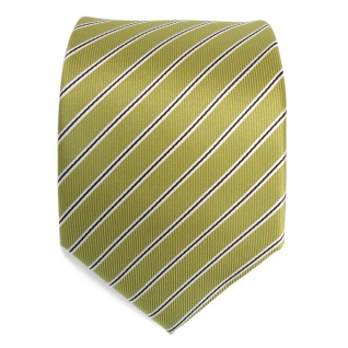 Designer Krawatte grün hellgrün schwarz weiß gestreift - Tie Schlips Binder - Vorschau 2