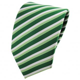 TigerTie Designer Krawatte grün hellgrün silber gestreift