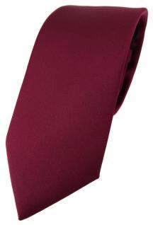 TigerTie Designer Krawatte in bordeaux einfarbig Uni - Tie Schlips