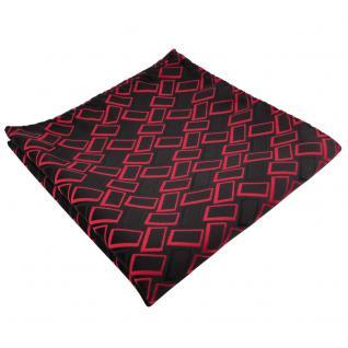 schönes Einstecktuch in rot signalrot schwarz gemustert - Tuch 100% Polyester