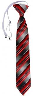 TigerTie Security Sicherheits Krawatte rot verkehrsrot anthrazit grau gestreift