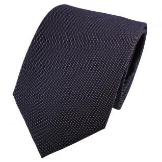 Satin Seidenkrawatte schwarz anthrazit grau fein gepunktet - Krawatte Seide Tie