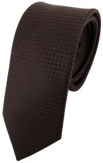 schmale Designer Seidenkrawatte braun dunkelbraun gepunktet - Krawatte Binder