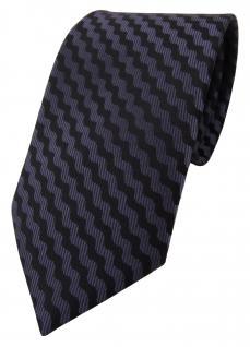 TigerTie Designer Krawatte lila schwarz gemustert - Schlips Binder Tie