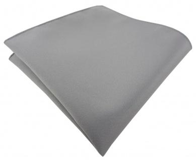 TigerTie Einstecktuch grau anthrazit einfarbig Uni - Tuch Polyester - 26 x 26 cm