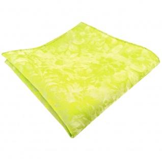 TigerTie Einstecktuch grün gelb neongrün neongelb gemustert - 100% Polyester