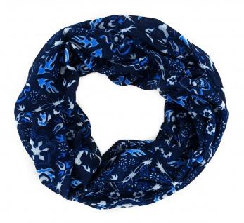 TigerTie Multifunktionstuch in blau weiss Totenkopf - Tuch Schal Schlauchtuch