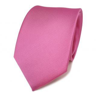 Designer Seidenkrawatte rosa pink erikaviolett Uni Rips - Krawatte Seide Binder