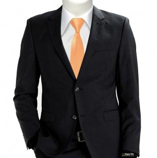 TigerTie Designer Sicherheits Krawatte in lachs orange einfarbig Uni Rips - Vorschau 2