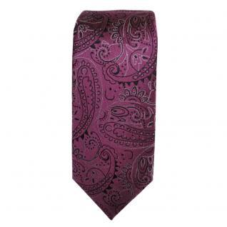 schmale schöne MEXX Seidenkrawatte in flieder lila Paisley-Muster - Krawatte Tie - Vorschau 2