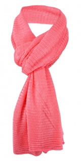 Damen Satin Schal Halstuch rot rosé gemustert Gr. 155 cm x 55 cm - Tuch