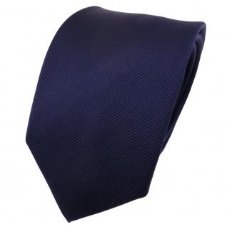TigerTie Designer Krawatte blau dunkelblau marine Uni Rips - Binder Tie