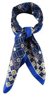 TigerTie Damen Nickituch Halstuch in blau royal marine beige violett gemustert