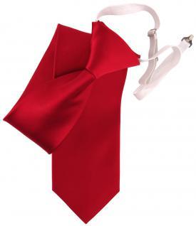 TigerTie Security Seidenkrawatte rot verkehrsrot uni Gummizug - Krawatte Seide