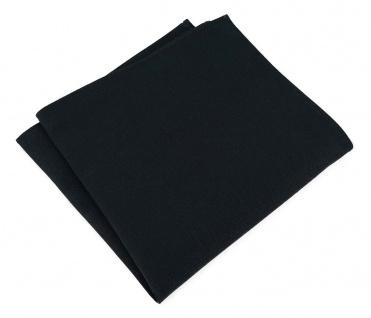 TigerTie Einstecktuch in schwarz uni - 100% Baumwolle - Einstecktuch 26 x 26 cm