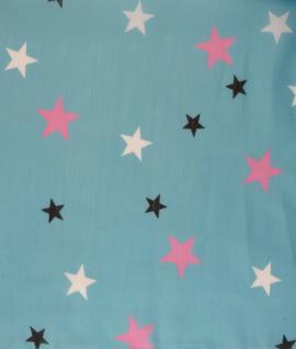 Loop Schal Halstuch in rosa lila weissgrau schwarz petrol - Motiv Einhorn-Sterne - Vorschau 2