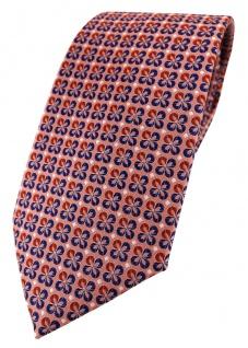 TigerTie Designer Krawatte in rot silber marine gemustert