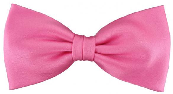 vorgebundene TigerTie Satin Fliege rosa pink Uni einfarbig + Geschenkbox
