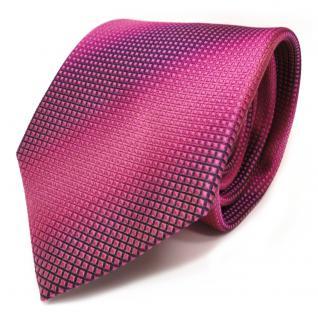 TigerTie Designer Seidenkrawatte pink rosa rosé lila Karomuster - Krawatte Seide