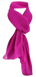 TigerTie Damen Chiffon Halstuch magenta fuchsia Uni Gr. 160 cm x 36 cm - Schal