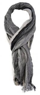 TigerTie Schal in silber grau schwarz anthrazit gemustert - Gr. 180 x 50 cm