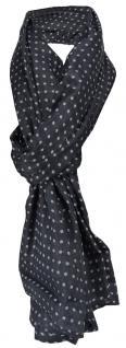 Schal in marine dunkelblau hellblau gepunktet - Gr. 190 x 100 cm - Tuch Halstuch