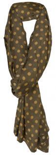 TigerTie Schal in braun ockerbraun gepunktet - Gr. 190 x 100 cm - Tuch Halstuch