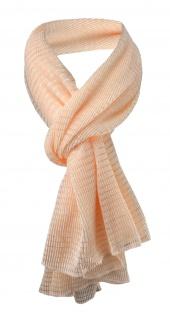 Damen Satin Schal Halstuch lachs orange gemustert Gr. 155 cm x 55 cm - Tuch