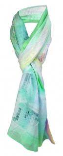 Schal in grün mint gelb orange grau lila etc. - Schriftzug Miami Beach