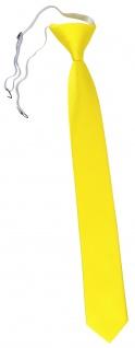 TigerTie Sicherheits Krawatte in gelb leuchtgelb neongelb einfarbig Uni Rips