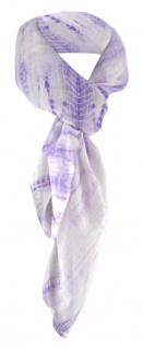 TigerTie Damen Halstuch in violett flieder gemustert - Tuchgröße 100 x 100 cm