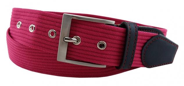 TigerTie - Stoffgürtel in pink einfarbig - Bundweite 120 cm